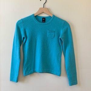 Gap Aquamarine Blue Wool Sweater